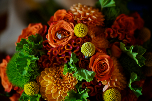 Blue & Orange Wedding at the Iroquois Club
