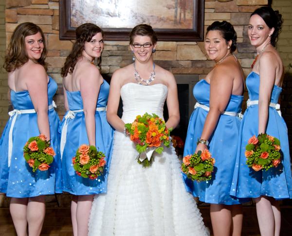 Blue & Orange Wedding at the Iroquois Club