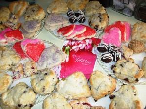 Valentine's Day Tea Party scones