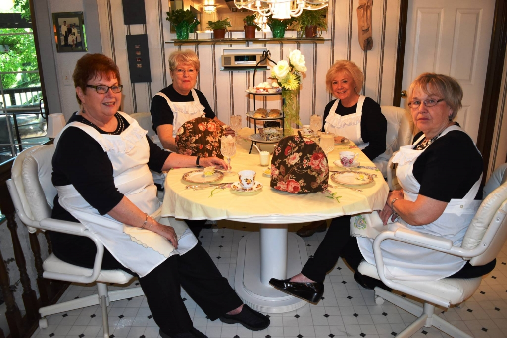 These lovely ladies are the hostess and servers for their Downton Abbey afternoon tea from the previous two photos.